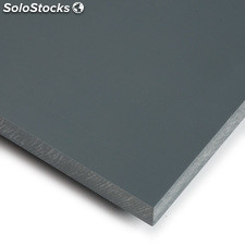 PVC industrial gris - 100 x 100 cm x 5 mm