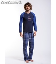 Pyjama Azzaro Checked Blue