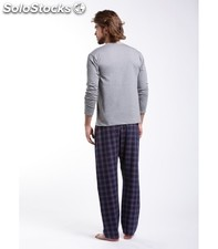 Pyjama Azzaro Checked Blue/Red