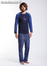 Pyjama Checked Blue