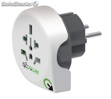 Q2 Power Adaptador de viaje World to Europe, ideal usar dispositivos en Europa