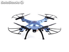 Quad-Copter syma X5HC 2.4G 4-Channel with Gyro + Camera (Blue + 4GB microSD)