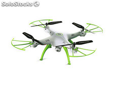 Quad-Copter syma X5HC 2.4G 4-Channel with Gyro + Camera (White + 4GB microSD)