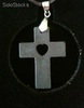 Quantum Scalar Energy Pendant Heart on Cross