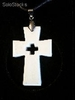 Quantum Scalar Energy Pendant Ivory Cross on Cross