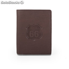 R41018 billetero de piel marca route 66 marron
