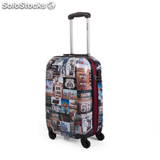 R60050 trolley de cabina low cost marca route 66 negro