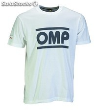 Racing spirit camiseta omp blanco talla s