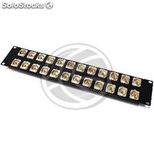 Rack19 Patch Panel 24-port 2U RCA-female (XQ34)