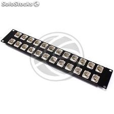 Rack19 Patch Panel 24-port BNC-socket 2U (XQ33)
