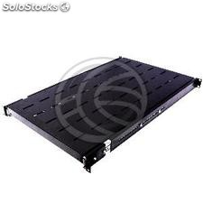 Rack19 telescopic tray 1U 750mm 735-1010mm background (RZ25-0004)