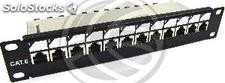 "RackMatic TENRack Patch-Panel 10"" 12-Port RJ45 Cat.6 ftp 1U (TR74)"