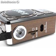 Radio altavoz retro portatil MP3 tarjetas