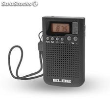 ✅ radio bolsillo elbe RF93 digital negra