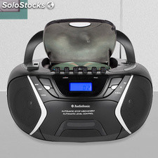Radio-Cassette CD usb MP3 AudioSonic CD1596, con radio FM / am, con pantalla