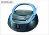 Radio cassette con CD/MP3 sy-2023azul