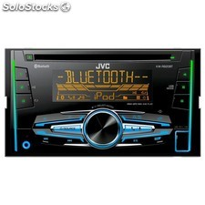 Radio cd bluetooth doble din jvc multicolor