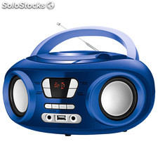 "Radio CD Bluetooth MP3 9"" brigmton w-501 usb Azul"