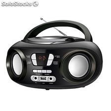 Radio CD Bluetooth MP3 brigmton w-501 usb Negro