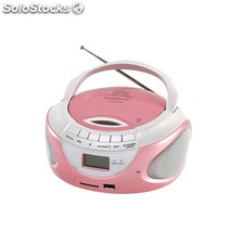 Radio CD Bluetooth MP3 Sunstech CRUSM395BT usb sd Rosa
