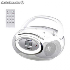 Radio CD brigmton w-410 b blanco usb m. Distancia