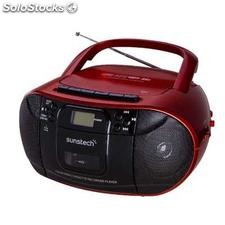 ✅ radio CD/cassette sunstech CXUM52RD usb rojo