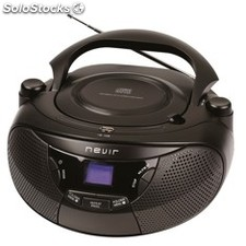 Radio CD con MP3 nevir nvr-475U negro