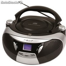 Radio CD MP3 nevir nvr-475U Plata