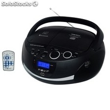 Radio CD MP3 nevir nvr-480UB Negro