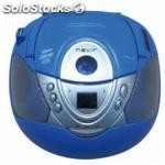 Radio CD MP3 portatil nevir nvr-474U azul