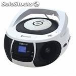 Radio CD MP3 portatil nevir nvr- 481UB blanco / bluetooth