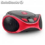 Radio CD MP3 spc 4501R clam boombox usb rojo