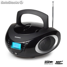 Radio CD MP3 USB AudioSonic CD1594, con 2 altavoces de 3 W de potencia, entrada