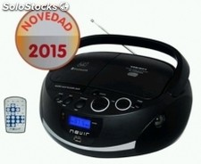 Radio CD nevir nvr-480UB negr bluetooth usb negro