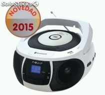 Radio CD nevir nvr-481UB blan bluetooth usb blanco