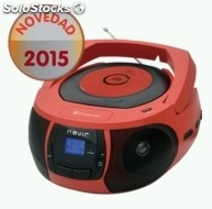 Radio CD nevir nvr-481UB rojo bluetooth usb rojo