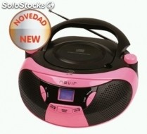 Radio CD nevir nvr-481UB rosa bluetooth usb rosa