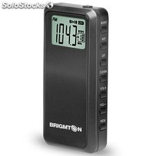 Radio de bolsillo digital Brigmton BT-123 Negro