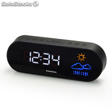 Radio-Despertador AudioSonic CL1489, 10 presintonías, función Sleep - Snooze,