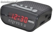 Radio despertador Daewoo DCR-26 FM / AM LED rojo pila de seguridad no incluida -