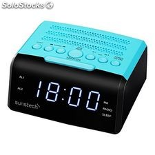 "Radio Despertador Sunstech FRD35UBL led 0.9"" usb Azul"