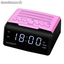 "Radio Despertador Sunstech FRD35UPK led 0.9"" usb Rosa"