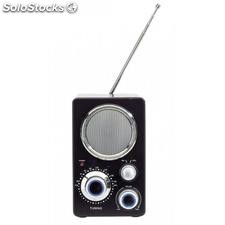 "Radio FM ""Frequency"",plata, negro"