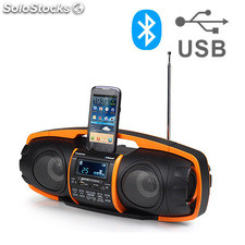 Radio MP3 Bluetooth AudioSonic RD1548 con control de agudos y bajos, 4 bandas