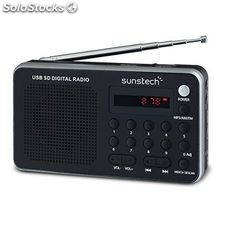 Radio Portátil Digital Sunstech RPDS32SL Plateado
