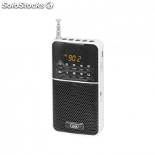 Radio portatil trevi dr 730 m blanca - FM - display digital - busqueda