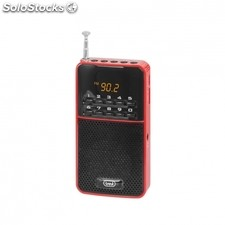 Radio portatil trevi dr 730 m roja - FM - display digital - busqueda