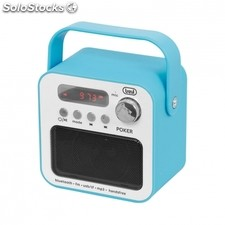 Radio portatil trevi dr 750 bt poker azul - 3W - FM - MP3 usb/sd - bt funcion