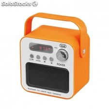 Radio portatil trevi dr 750 bt poker naranja - 3W - FM - MP3 usb/sd - bt funcion