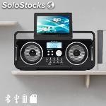 ✅ radio retro bluetooth recargable audiosonic RD1556